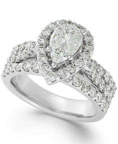 Diamond Engagement Ring in 14k White Gold (2-3/8 ct. t.w.) - All Fine Jewelry - Jewelry & Watches - Macy's