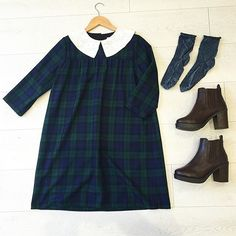 The Olivia tartan smock dress is now available at the #moddollyshop #handmade in #london Also available at www.moddolly.com