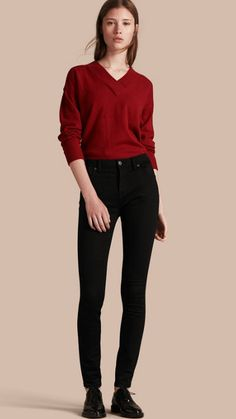Black Skinny Fit High-Rise Deep Black Jeans 1