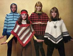 vintage everyday: 50 Awesome and Colorful Photoshoots of the 1970s Fashion and Style Trends sweater poncho cape