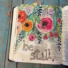 Bible Journaling: Worshipping In Your Bible Margins — Whole Magazine Kunstjournal Inspiration, Art Journal Inspiration, Journal Ideas, Art Projects For Adults, Cool Art Projects, Art Journal Pages, Art Pages, Art Journals, Pop Art Wallpaper