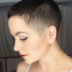 | Beautiful buzz cut, extreme pixie
