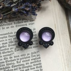 Black Witchcraft Ear Plugs for stretched lobes. Belly Button Jewelry, Ear Jewelry, Body Jewelry, Jewlery, Body Piercings, Piercing Tattoo, Tongue Piercings, Cartilage Piercings, Rook Piercing