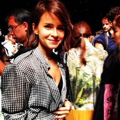 A familiar (and beautiful) face spotted at the Spring 2014 show this morning. - Essertier by savoirflair, Saturday, September Spots On Face, September 7, Miroslava Duma, Spring 2014, Lacoste, Vip, Catwalk, Campaign, Couple Photos
