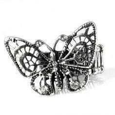Bague fantaisie papillon ajustable Bijoux Fantaisie Aura Creations a s'offrir sur http://www.aura-creations.com
