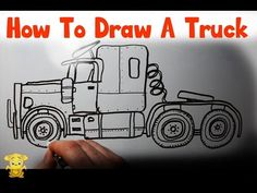 Learn How to Draw a Truck - Big Rig Drawing by LITTLE PUMA! - YouTube