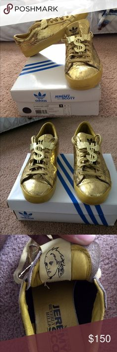 meet 9214f a7c40 Adidas Jeremy Scott gold rod laver size 8.5 In a 8 10 condition size 8.5