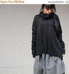 ON SALE NEW/High fashion italian wool  Black sweater/ New women winter outwear by KOTYTOstyleLAB on Etsy