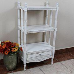 Windsor Bookshelf in Antique White Finish