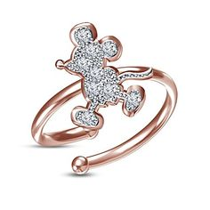 Disney Discovery- Adjustable Mickey mid-ring