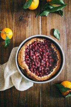 Cranberry, Ginger and Satsuma Clafoutis | hummingbird high || a desserts and baking blog