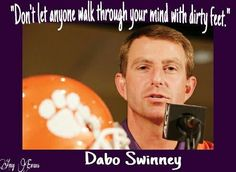 Great quote from Dabo Swinney