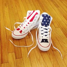 Reconstructed High Top Converse with Custom American by Eindre