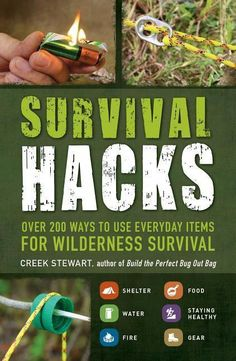 """$9.76 · """"Most of us need never fashion a gas mask from a soup can.... Should the need arise, you'll be glad for a copy of Survival Hacks... offers tips ranging from making a cookstove from a packet of… More #SurvivalWallpaper Survival Life Hacks, Survival Quotes, Survival Food, Homestead Survival, Wilderness Survival, Camping Survival, Outdoor Survival, Survival Prepping, Emergency Preparedness"""
