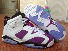 407cb3f84fc789 Authentic Cheap Air Jordan 6 Wholesale purple white shoe woAuthentic Cheap Air  Jordans 6 vi basketball sneaker for sale