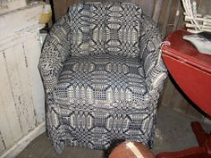 overshot coverlet ladies chair