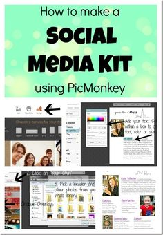 How To Make A Social Media Kit Using PicMonkey -Momo