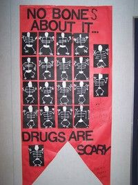 Red ribbon week- gunna be my door!