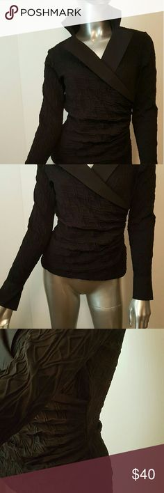 ANNE FONTAINE Black Ribbed Faux Top Sz 40 8/10 Timeless ANNE FONTAINE  Amyra Top  Great condition anne fontaine  Tops
