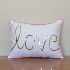 pink and gold girls cushion - Google Search