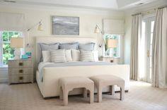 Pillow Arrangement on a King Size Bed - 3 Euro Shams; 2 standard pillows; 2 Accent pillows