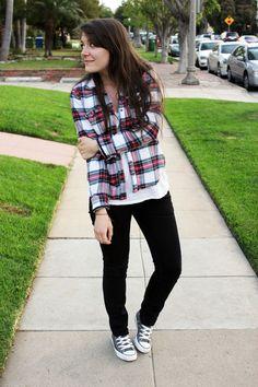 Abercrombie shirt - Levis jeans - Converse