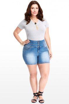 Ashley Stewart plus size denim jumper short overalls shortall blue ...