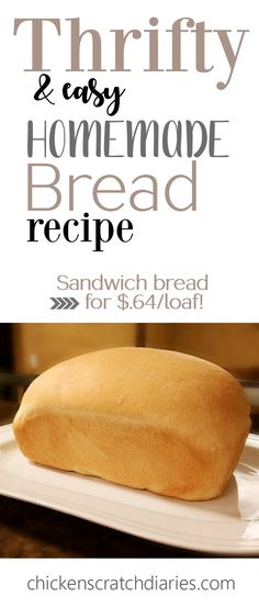 Homemade Sandwich Bread Make your own bread for pennies! This looks amazing, have to try this homemade bread recipe. Make your own bread for pennies! This looks amazing, have to try this homemade bread recipe.