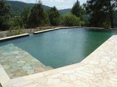 pierre verte piscine | Piscine naturelle de 70 m² de baignade réalisée par Couleur Nature ...
