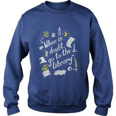 Harry Potter sweatshirt | when in doubt, go to the library