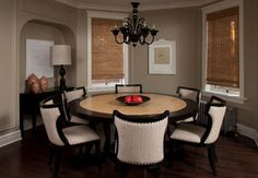 love the circular room and table