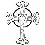 Celtic cross design (tattoo) -- I like this one a lot, has many possibilities!