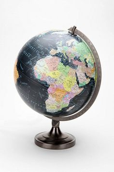 Decorative Big Rotating Black Ocean Globe World Table Decor Earth Geography. Everything Is Illuminated, Black Ocean, Home Decor Sale, World Globes, Map Globe, Little Girl Rooms, Travel Themes, Room Themes, My New Room