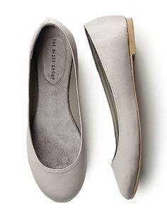 $29 Simple Satin Ballet Flat  http://www.dessy.com/accessories/simple-satin-ballet-flat/