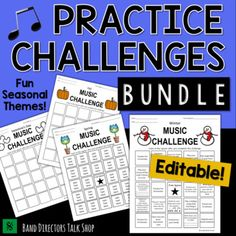 Music Practice BINGO for Music Distance Learning by Band Directors Talk Shop Music Theory Games, Music Theory Worksheets, Rhythm Games, Music Sub Plans, Music Lesson Plans, Cello Lessons, Music Lessons, Music Bingo, Band Director