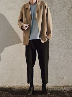 Blazer Outfits Men, Tomboy Outfits, Fall Outfits, Casual Outfits, Fashion Outfits, Monochrome Fashion, Minimal Fashion, Look Fashion, Mens Fashion