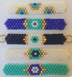 HUZUR STREET (Hobbies Worth Living) I needed to exhibit you making a bracelet with natural stone and leather thread with … Beaded Braclets, Bead Loom Bracelets, Beaded Bracelet Patterns, Bracelet Set, Peyote Stitch Patterns, Loom Patterns, Beading Patterns, Bead Loom Designs, Bijoux Diy