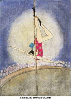 Stock Illustrations of Acrobat Hanging From a Rope x12823380 - Search Clipart, Illustration Posters, Drawings and Vector EPS Graphics Images - x12823380.jpg