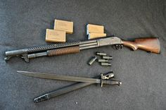 A Model 1897 Trench Gun owned by one. Military Weapons, Weapons Guns, Airsoft Guns, Guns And Ammo, Winchester 1897, Winchester Shotgun, Tactical Shotgun, Tactical Guns, Battle Rifle