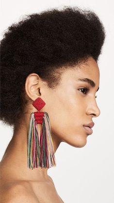 Tassel Jewelry, Textile Jewelry, Fabric Jewelry, Tassel Earrings, Crystal Earrings, Diy Jewelry, Jewelry Design, Jewellery, Diamond Jewelry