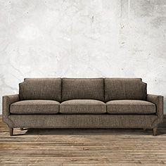"Monroe 98"" Upholstered Sofa in Tribeca Pewter"