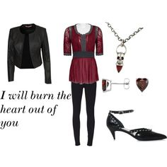 """I Will Burn The Heart Out Of You"" outfit I create from Moriarty quote"