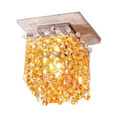 Masiero Aurea 1 Light Cube Flush Mount Finish: Gold, Crystal Type: Swarovski, Crystal Color: Red
