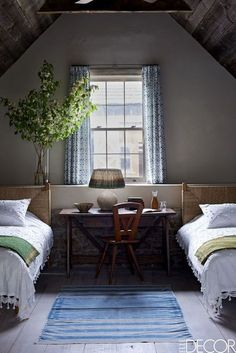20 Ways To Make A Big Statement In A Small Bedroom - http://ELLEDecor.com
