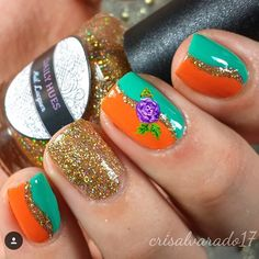 Love the colors in @crisalvarado17's fun mani! - Simple Wave Nail Vinyls  snailvinyls.com