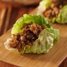 Chicken or Turkey Asian Lettuce Wraps in the Ninja