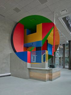 Georges Rousse creates his first permanent public art installation in the U.S.