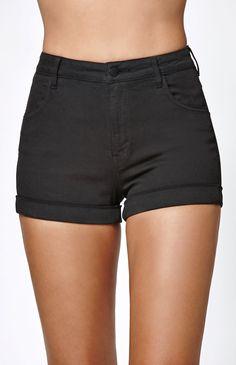 Coal Super High Rise Cuffed Denim Shorts