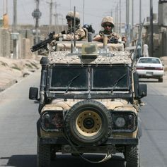 Members of The 40th Regiment The Royal Artillery in a snatch Land Rover during a patrol in Lashkar Gah, Afghanistan.