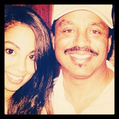 Marlon Jackson and his daughter Valencia